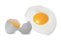 зажаренное яичко Стоковое Изображение RF