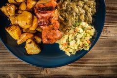 Зажаренное shashlik мяса Стоковая Фотография