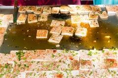 Зажаренное toufu стоковые фотографии rf