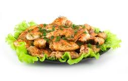 Зажаренные в духовке крыла цыпленк цыпленка Стоковая Фотография
