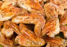 Зажаренные в духовке крыла цыпленк цыпленка Стоковое Изображение