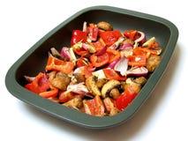 зажаренные в духовке овощи Стоковые Фото