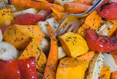 зажаренные в духовке овощи Стоковое Фото