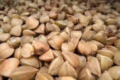 Зажаренные в духовке семена гречихи Зерно клейковины свободное старое для здорового питания, образа жизни здоровья стоковое фото rf
