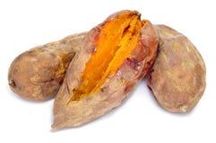 Зажаренные в духовке сладкие картофели Стоковое фото RF