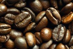 Зажаренные в духовке средством кофейные зерна, взгляд сверху стоковое изображение rf