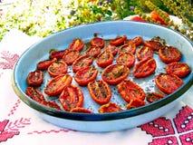 зажаренные в духовке томаты Стоковая Фотография RF