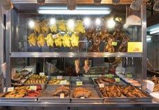 Зажаренные в духовке цыплята и утки Стоковое Изображение RF