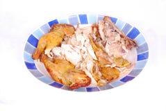 зажаренные в духовке части цыпленка стоковая фотография
