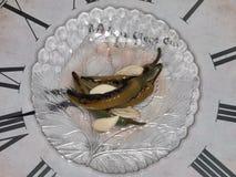 Зажаренные в духовке горячие перцы с чесноком стоковые фото