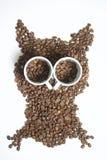 Зажаренные в духовке зерна черного кофе Стоковые Фотографии RF
