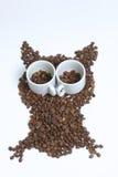 Зажаренные в духовке зерна черного кофе Стоковое Изображение RF