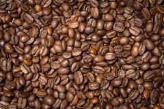 Зажаренные в духовке кофейные зерна, можно использовать как предпосылка Стоковые Изображения