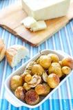 Зажаренные в духовке новые картошки Стоковое Изображение RF