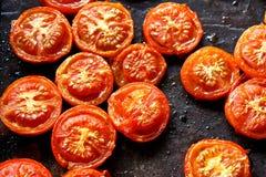 зажаренные в духовке томаты Стоковые Изображения RF