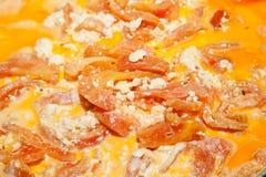 зажаренные в духовке томаты Стоковое Изображение