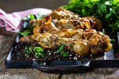 Зажаренные в духовке rellenos chunchules Типичные латино-американские чилиец и еда Аргентины Стоковое фото RF