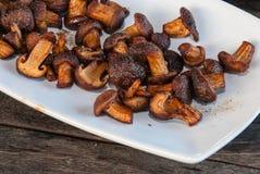 Зажаренные грибы Стоковые Изображения