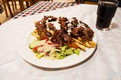 Зажаренные картошки с мясом Стоковое фото RF