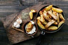 зажаренные картошки стоковая фотография rf