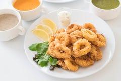 Зажаренные кольца calamari кальмара Стоковое Изображение