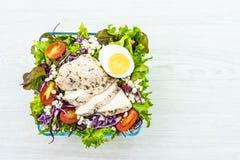 Зажаренные куриная грудка и салат мяса стоковое изображение