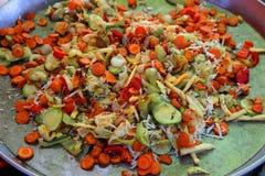 зажаренные овощи Стоковое Изображение