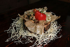 Зажаренные перцы, грибы, луки Стоковое Изображение