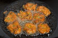 Зажаренные пирожки рыб Стоковые Изображения RF