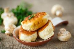 зажаренные пирожки с грибами Стоковая Фотография RF