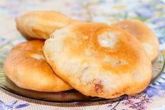 Зажаренные русским пироги мяса Стоковая Фотография