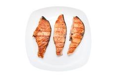 зажаренные рыбы тарелки Стоковое фото RF