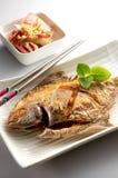 зажаренные рыбы стоковое изображение rf