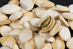 Зажаренные семена тыквы Стоковая Фотография