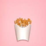 Зажаренные сигареты Стоковое Фото