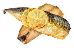 Зажаренные филе рыб скумбрии Стоковая Фотография