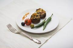 Зажаренные champignons с chili Стоковые Изображения