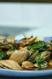 зажаренные clams chili Стоковое Изображение