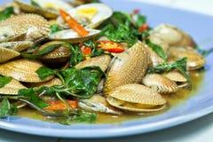 зажаренные clams chili Стоковые Изображения RF