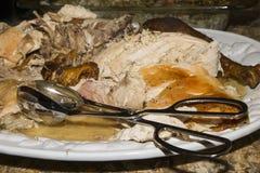 Зажаренный в духовке отрезок вверх Турция стоковые фото