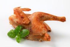 Зажаренный в духовке половинный цыпленок Стоковое Фото