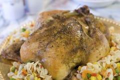 Зажаренный в духовке цыпленк цыпленок стоковые фотографии rf