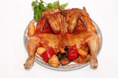 Зажаренный в духовке цыпленк цыпленок Стоковые Изображения