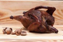 зажаренный в духовке цыпленок Стоковое Изображение