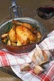 зажаренный в духовке цыпленок Стоковые Изображения RF