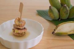 зажаренный в духовке банан Стоковая Фотография RF