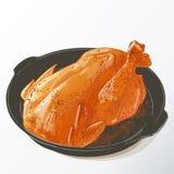 Зажаренный в духовке изолированный цыпленк цыпленок иллюстрация штока