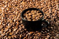 Зажаренный в духовке кофе в чашке стоковое изображение rf
