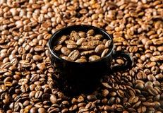 Зажаренный в духовке кофе в чашке стоковое изображение