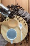 зажаренный в духовке кофе Стоковое Изображение